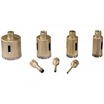 """Набор алмазных сверлильных коронок для плитки """"Dry"""", 7 предметов, M14 (628317000)"""